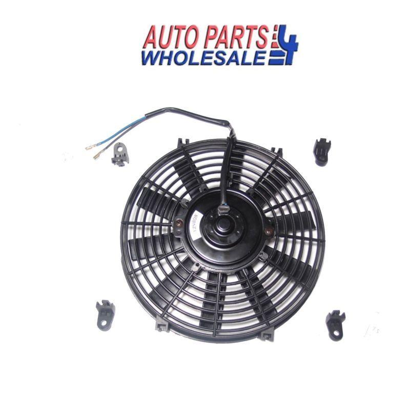 10 Black Universal 12v Slim Push Pull Electric Radiator Cooling Fan 1730 Cfm Electric Radiators Cooling Fan Radiators