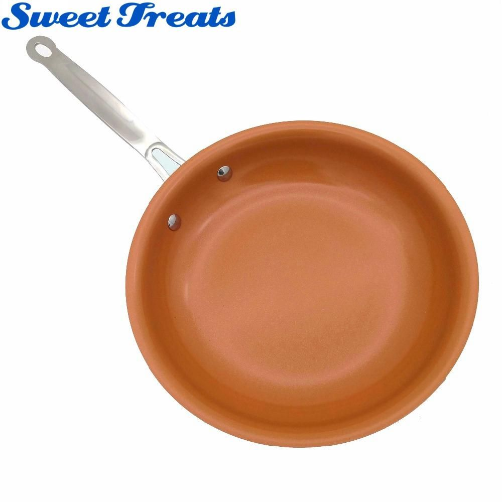 Slipsy 174 Non Stick Copper Ceramic Frying Pan As Seen On