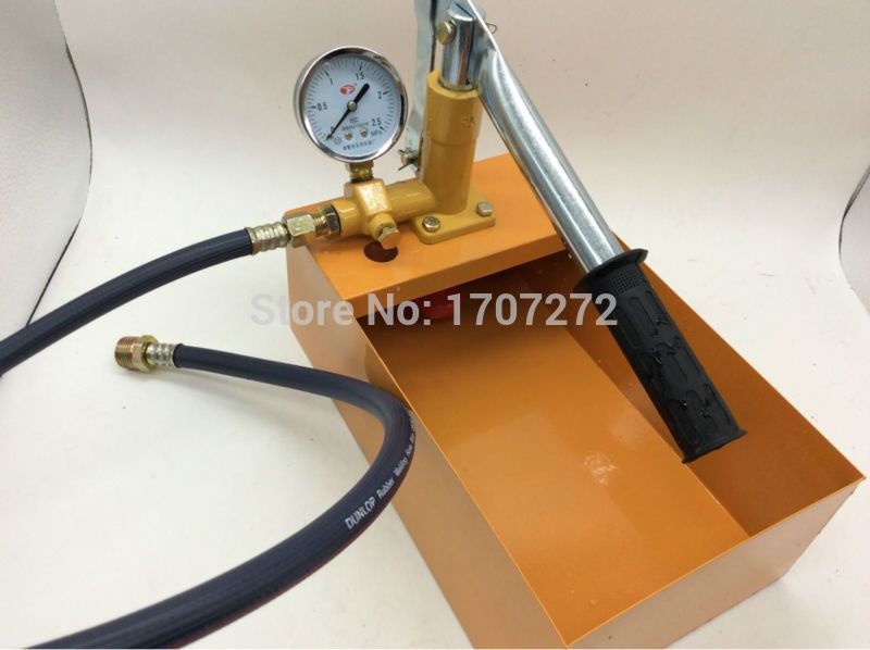 The Plumber Tools Manual Pressure Test Pump Water Pressure Testing Hydraulic Pump 2 5mpa 25kg Plumbing Plumber Hydraulic Pump