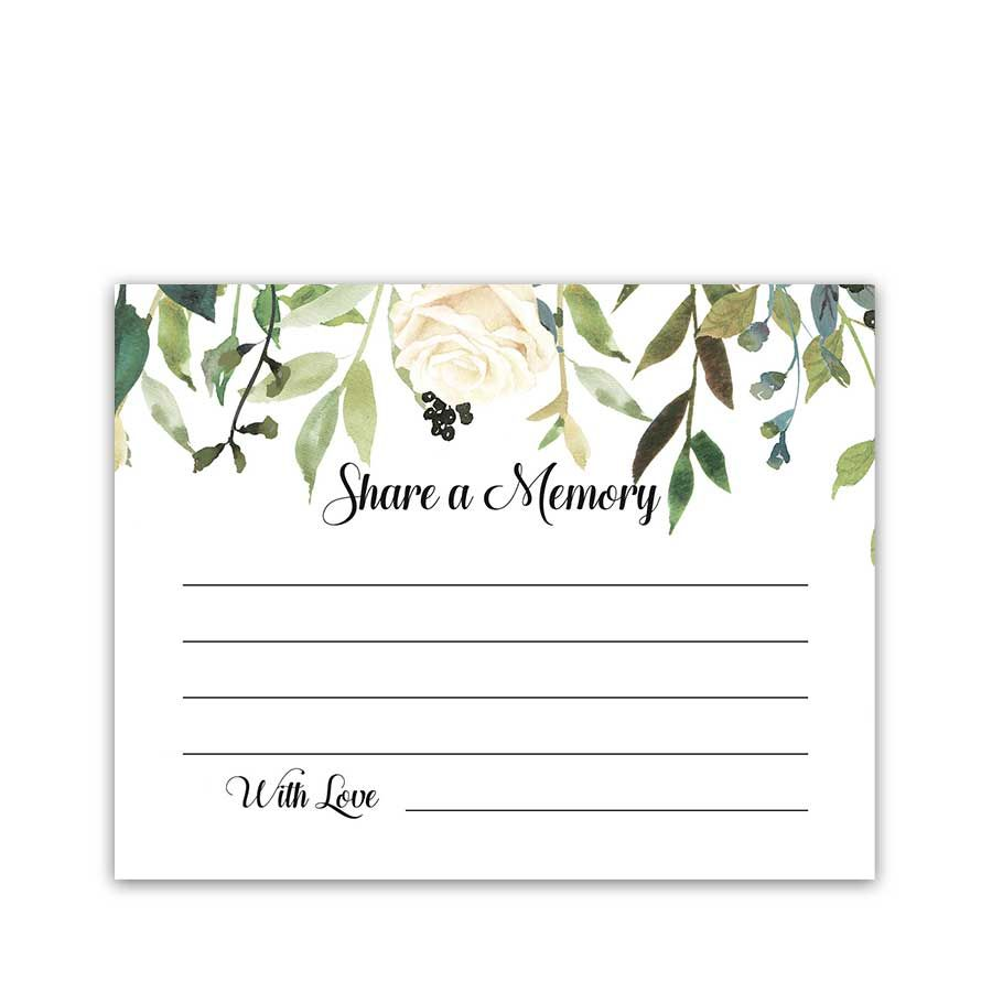 Share A Memory Cards Funeral Cards Celebration Of Life Memory Cards