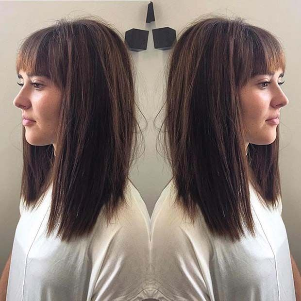 Long Bob Is One Of The Top Hairstyles For The Coming Autumn Winter Season This Is The Best In 2020 Haarschnitt Ideen Kurzhaarschnitte Haarschnitt