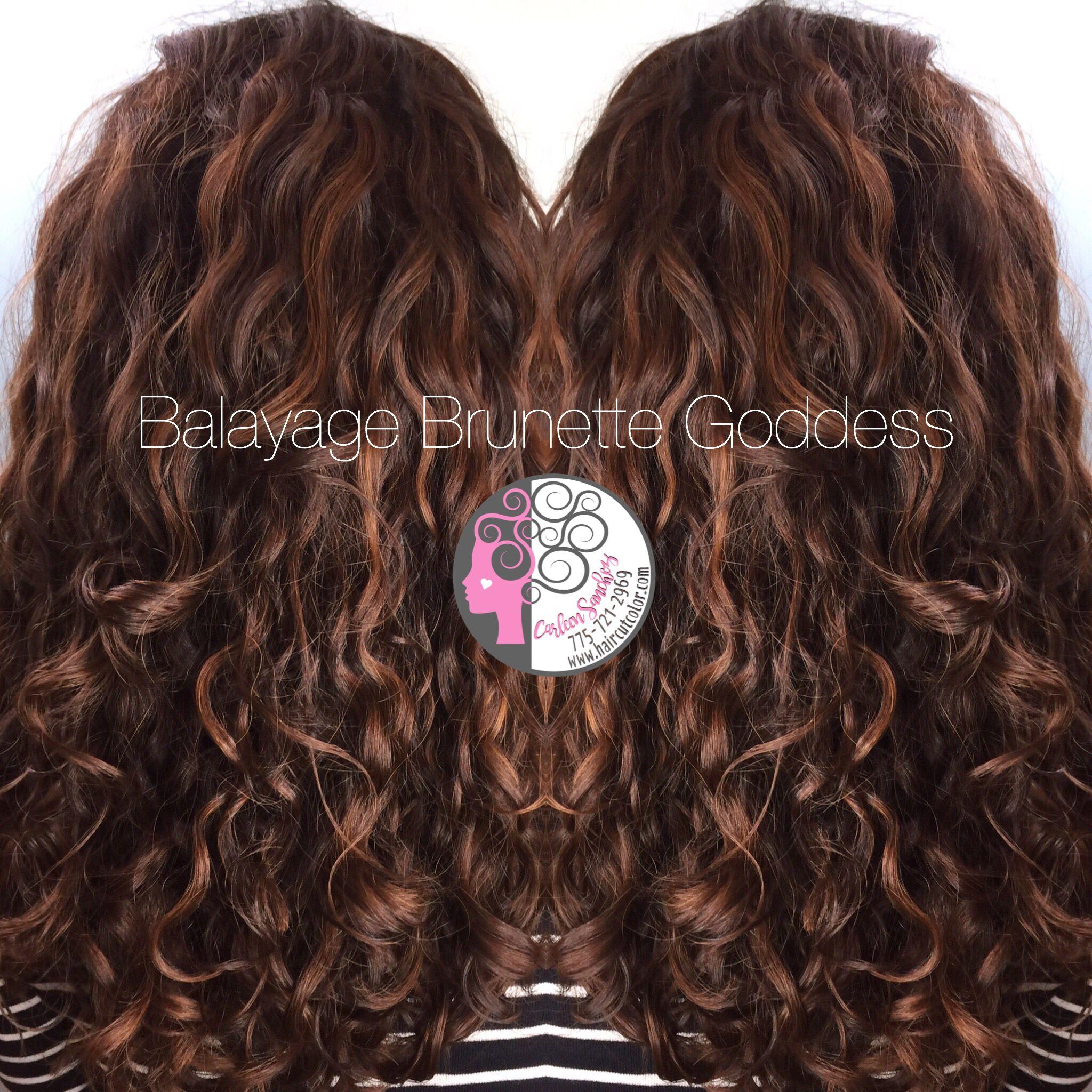 Balayage Pintura on naturally curly hair by Carleen Sanchez