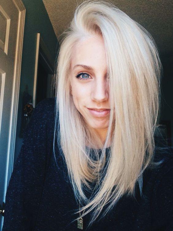 Bob Lung 2018 Blonde Haarfrisuren Pinterest Haar Ideen Lange