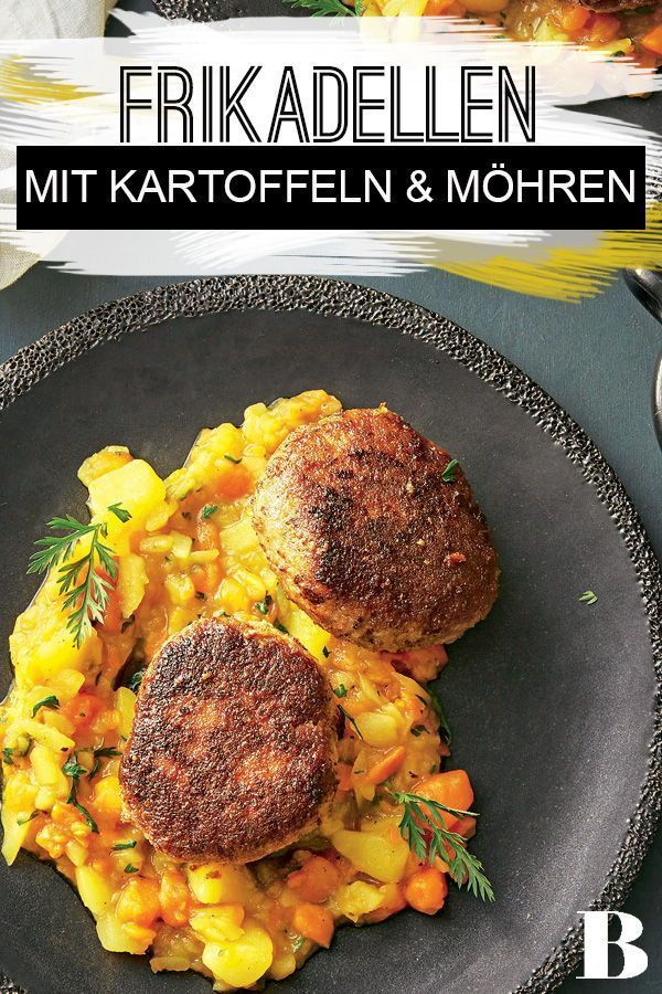 Frikadellen mit Kartoffel-Möhren-Gemüse #beefsteakrecipe