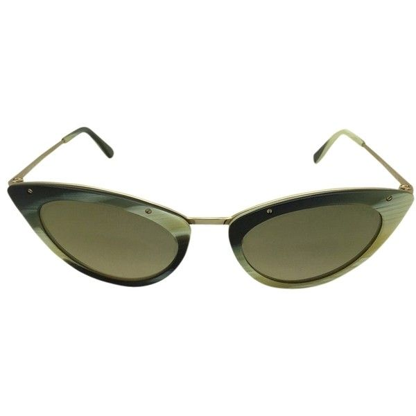001f21366035 Pre-owned Tom Ford Grace Tf349 64j Cat-eye Mirrored Sunglasses (430 PLN) ❤  liked on Polyvore featuring accessories