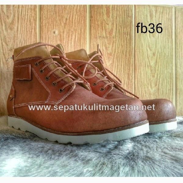 Sepatu Kulit Boots Eksklusif Fb36 Boots