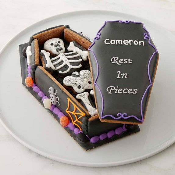 Personalized Halloween Gingerbread Coffin | Williams ...