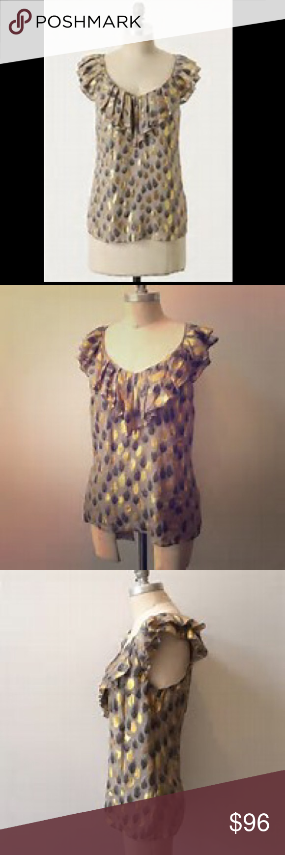 Anthro Ruffel Fire top sleeveless , no zipper, excellent condition Anthropologie Tops Blouses