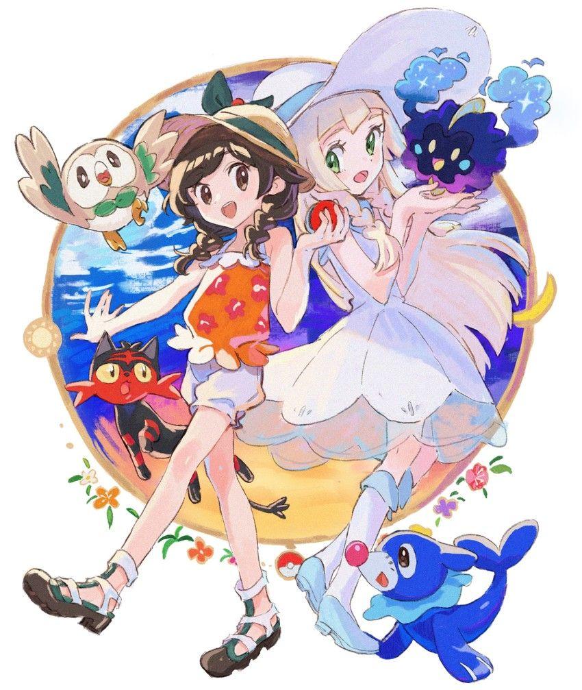 Me And Lillie Chan Ultra Sun Moon Pokemon Manga Pokemon Alola Pokemon