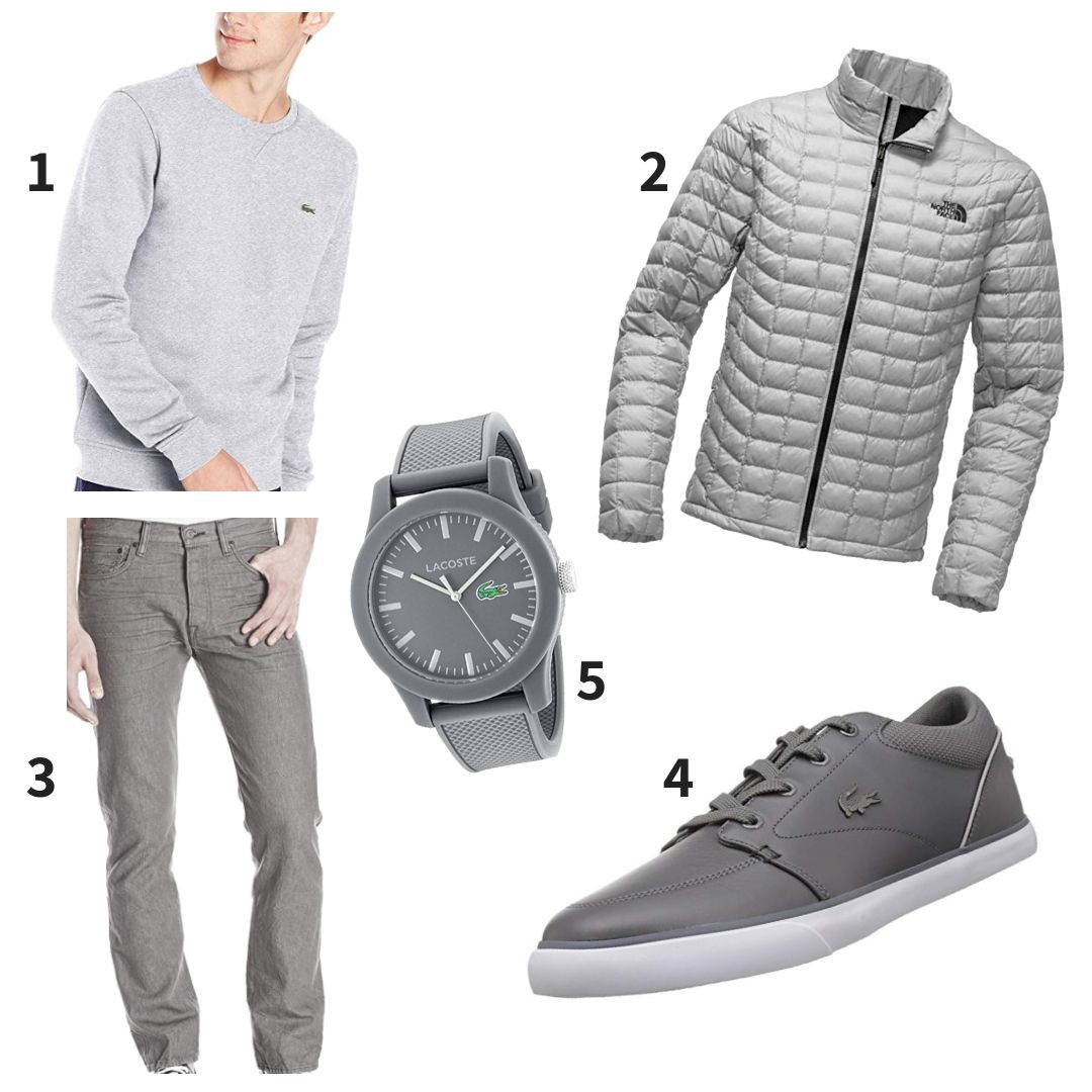 Grey Lacoste The North Face Outfit Mens Outfits Men S Coats And Jackets The North Face Outfit [ 1080 x 1080 Pixel ]