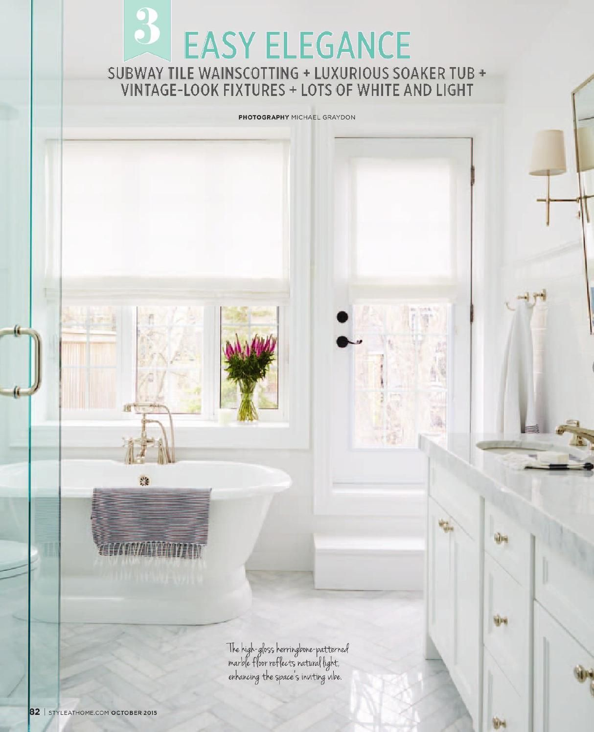 shaker style cabinets with deep soaker tub dream bath white and gray with gold touches round out this beautiful master bath like this floor for - Shaker Bathroom 2015