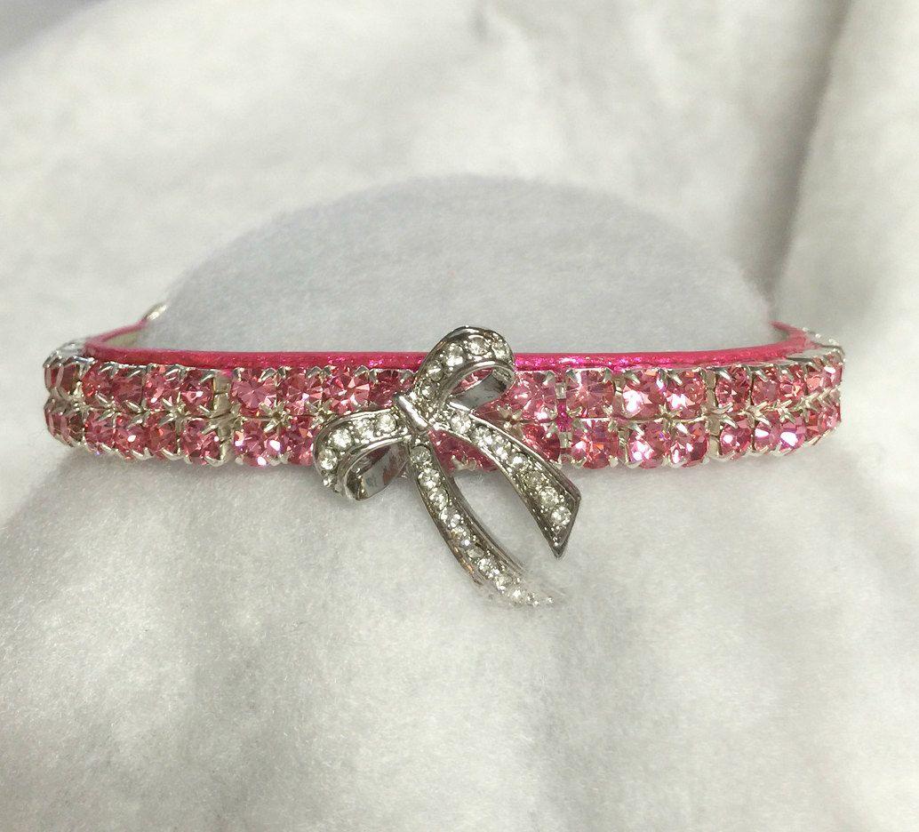 Sugarlicious Pets ™ PINK Bow FANCY Crystal Rhinestone