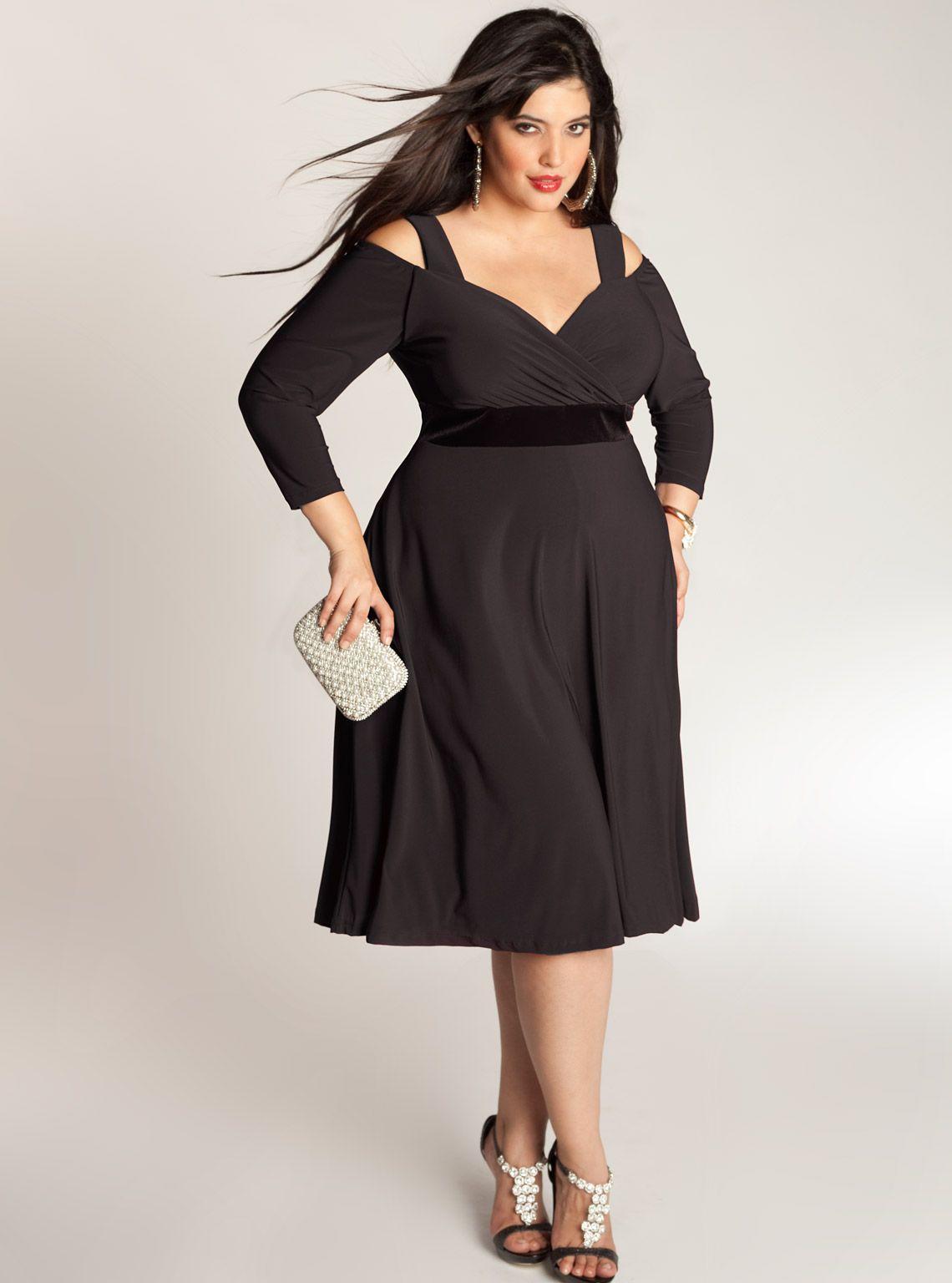 Plus Size Little Black Cocktail Dress