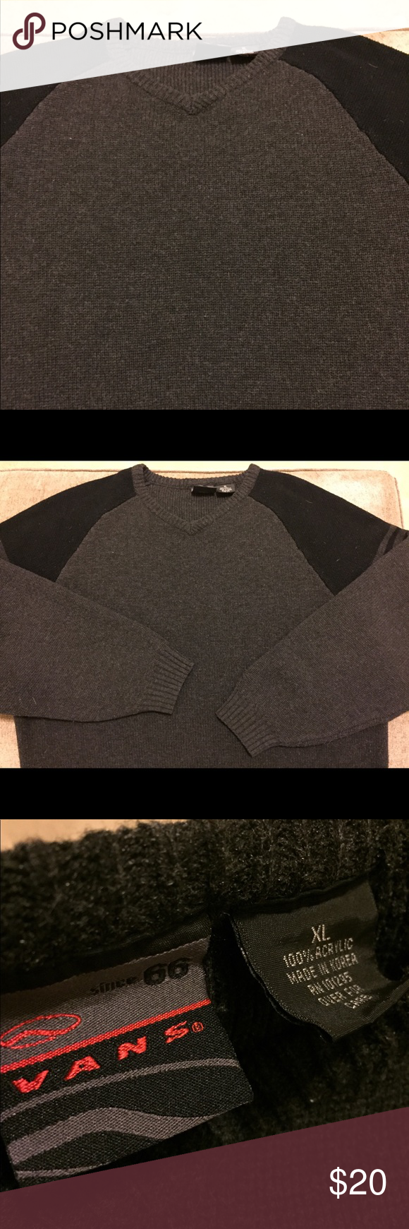 e2c1c54c06 VANS Since 66 Mens XL Sweater Vans Since 66 Men s Size  XL Style  Sweater  Color  Gray Black Brand  Vans Condition  Like New Any questions