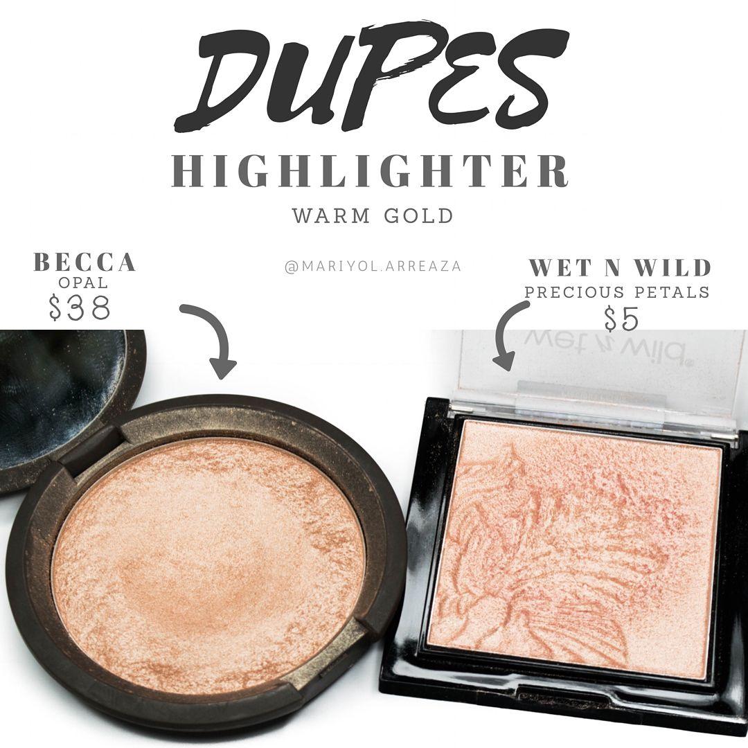 Opal Becca Dupe Highlighter Wet N Wild Precious Petals