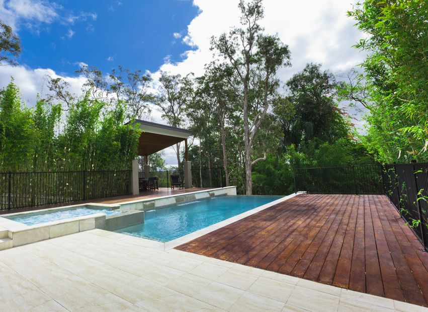 50 wood deck design ideas porcelain tile decking and for Wood pool deck design