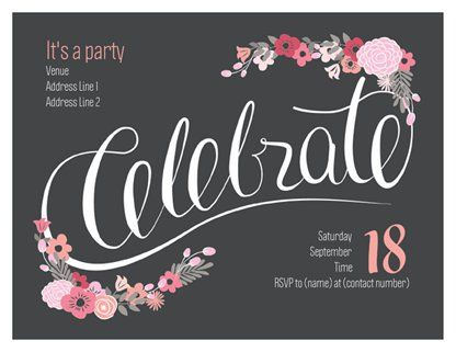 Adult Birthday Invitations Announcements Templates Designs Page 8