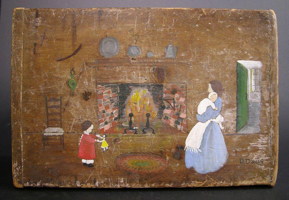 Fireplace Design fireplace scene : Primitive