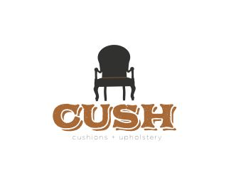 furniture stores logos. CUSH | Cushions + Upholstery Logo Design - This Could Be Used For An Antique Store, Furniture Or Any Store That Has To Do With Upholstery, Stores Logos O