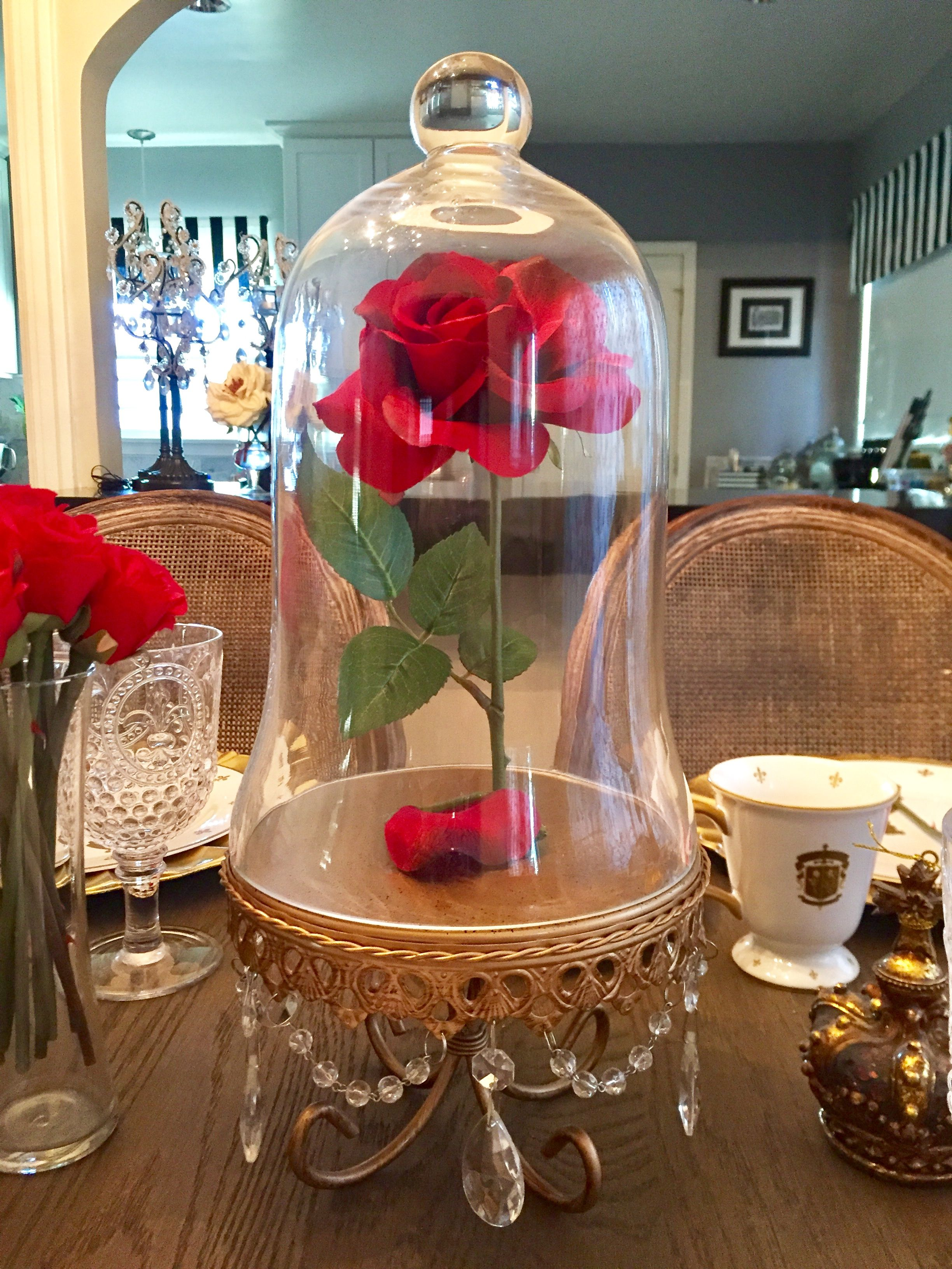 Be Our Guest Dinner Party Beauty And The Beast Enchanted Rose