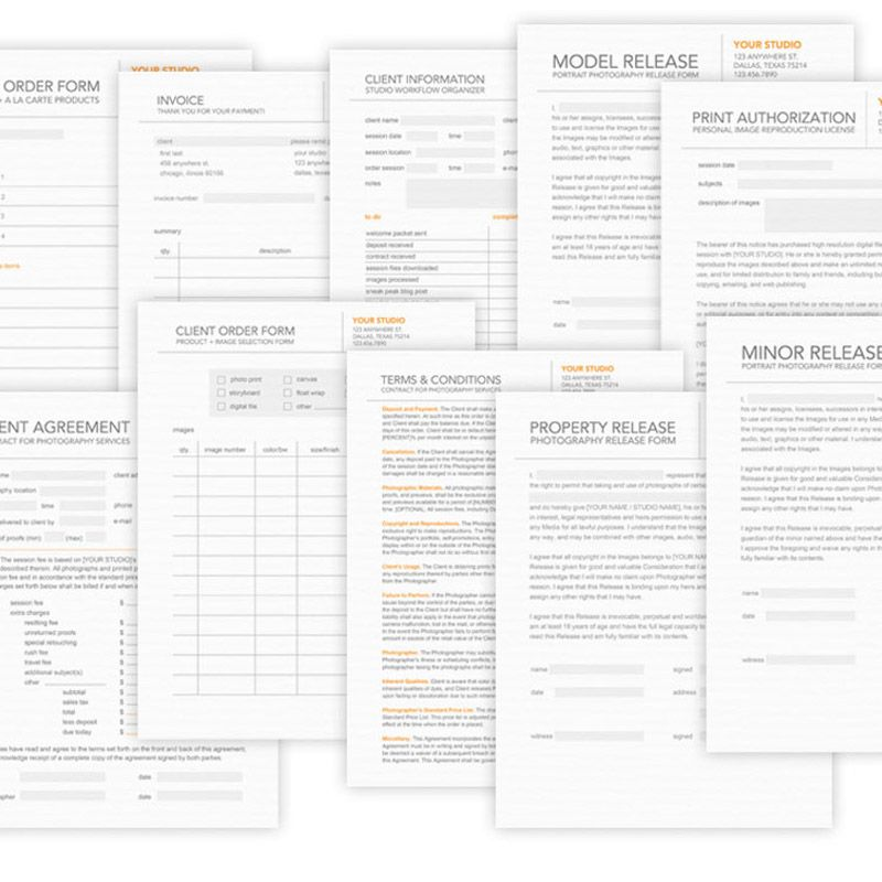 BrandSushi's Business forms kit. I really like the modern