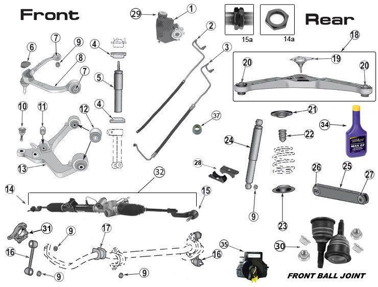 2005 jeep grand cherokee parts diagram
