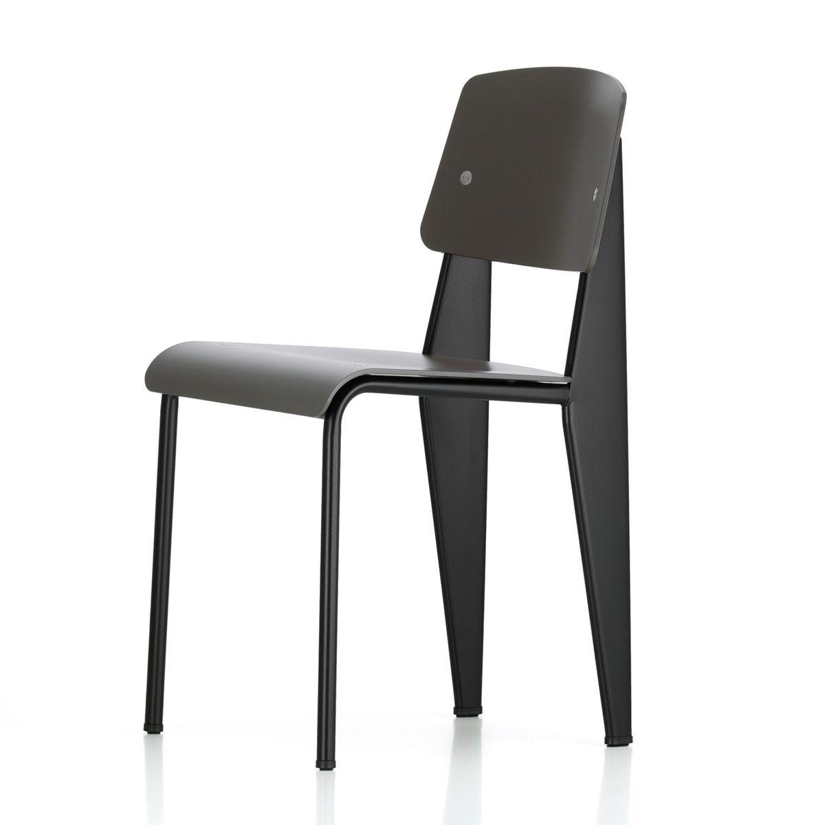 Vitra Prouve Standard Sp Chair Schwarz Basalt Filzgleiter Schwarz Hartboden Schwarz T 50 H 81 B 42 Vitra Stuhl Design Sofa Sessel
