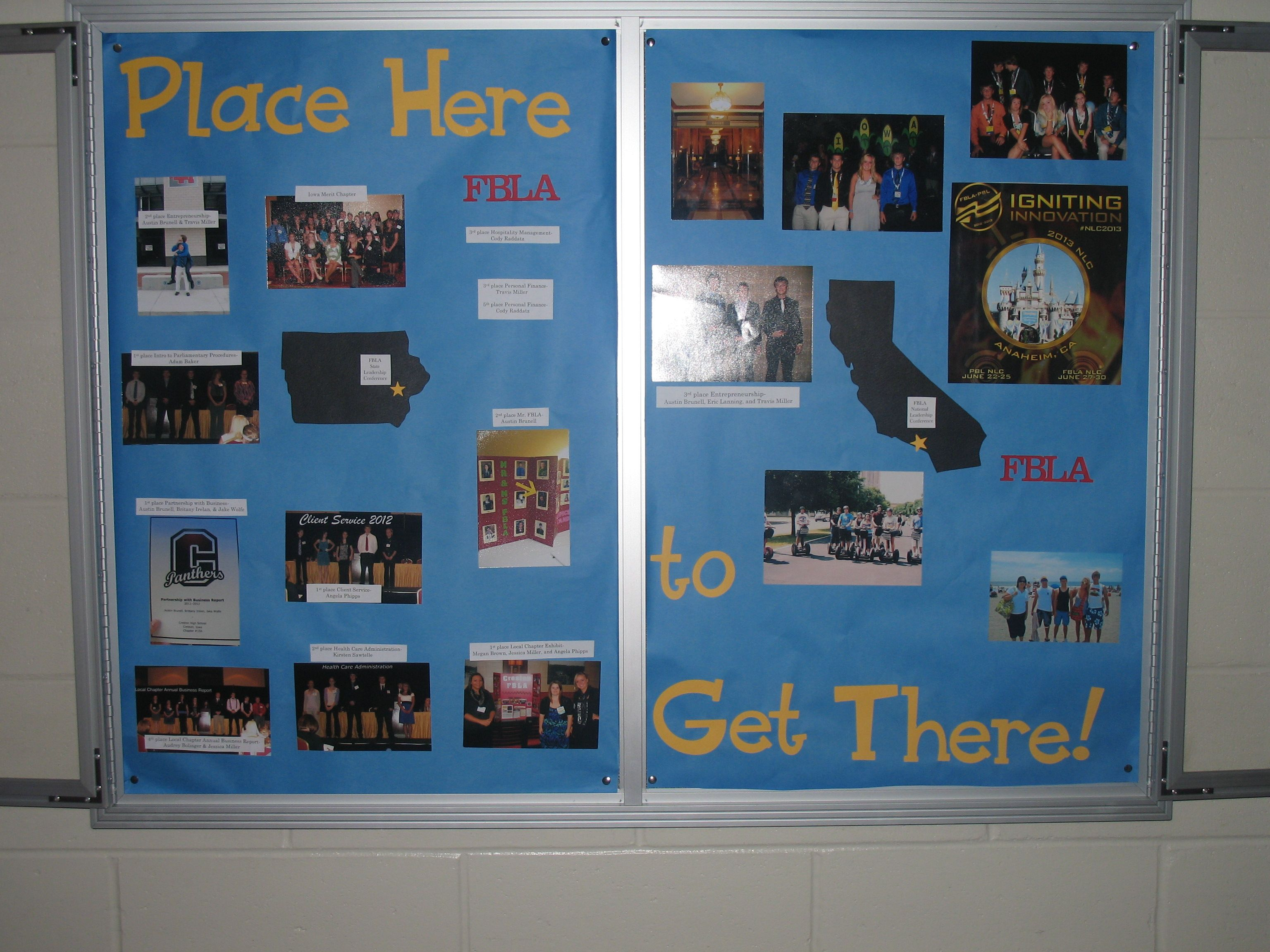 Bulletin Board Promoting The Iowa State Leadership