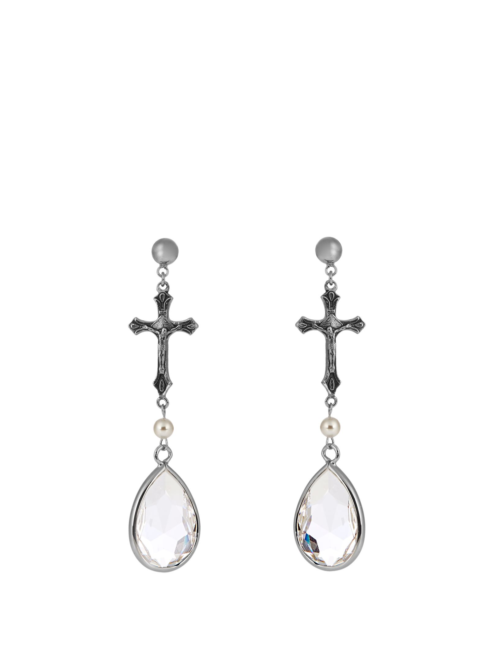 Crystal-embellished earrings   Givenchy   MATCHESFASHION.COM US