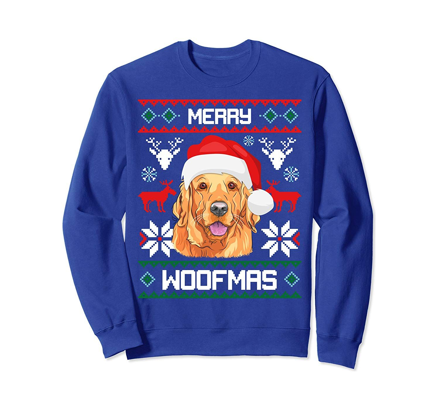 Golden Retriever Gift For Merry Christmas Woofmas Clothes