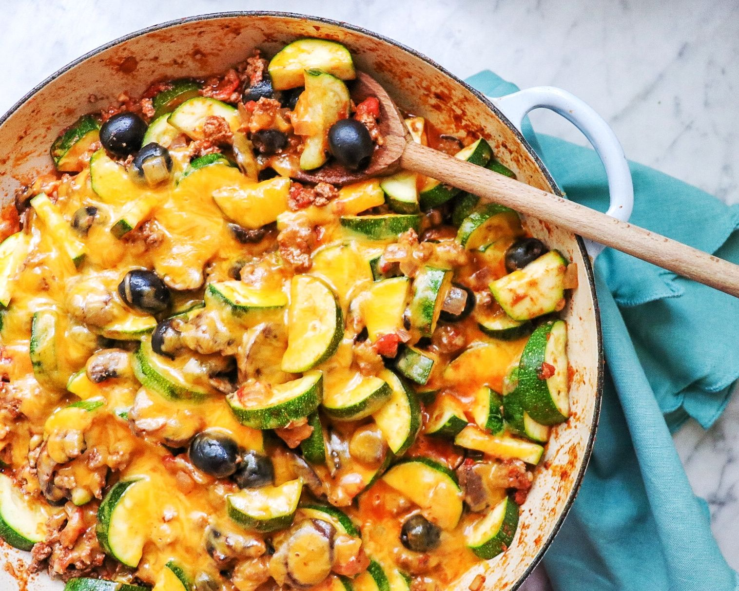 Zucchini And Ground Beef Skillet Recipe In 2020 Recipes Squash Recipes Ground Beef