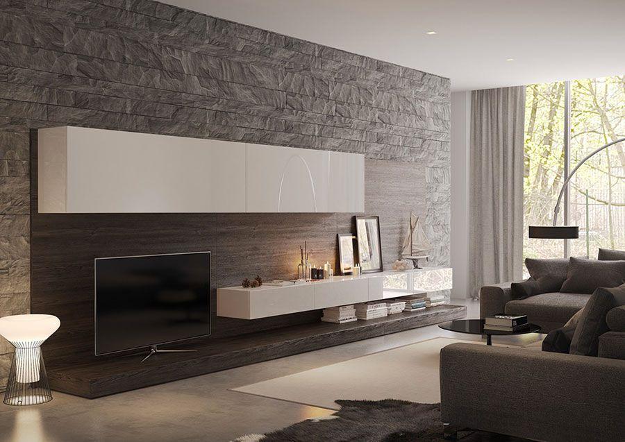 Rivestimenti per pareti del soggiorno 30 idee di design arredo soggiorno steinwand - Decorazione pareti soggiorno ...