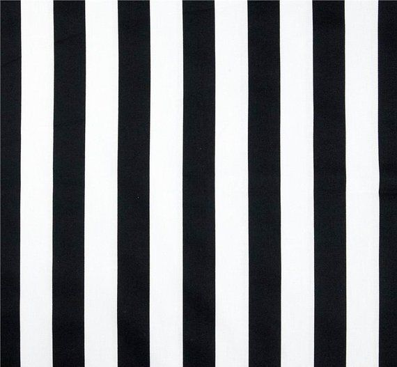 Clic Black And White Stripe Fabric By The Yard Designer Drapery Curtain Or Upholstery Blac