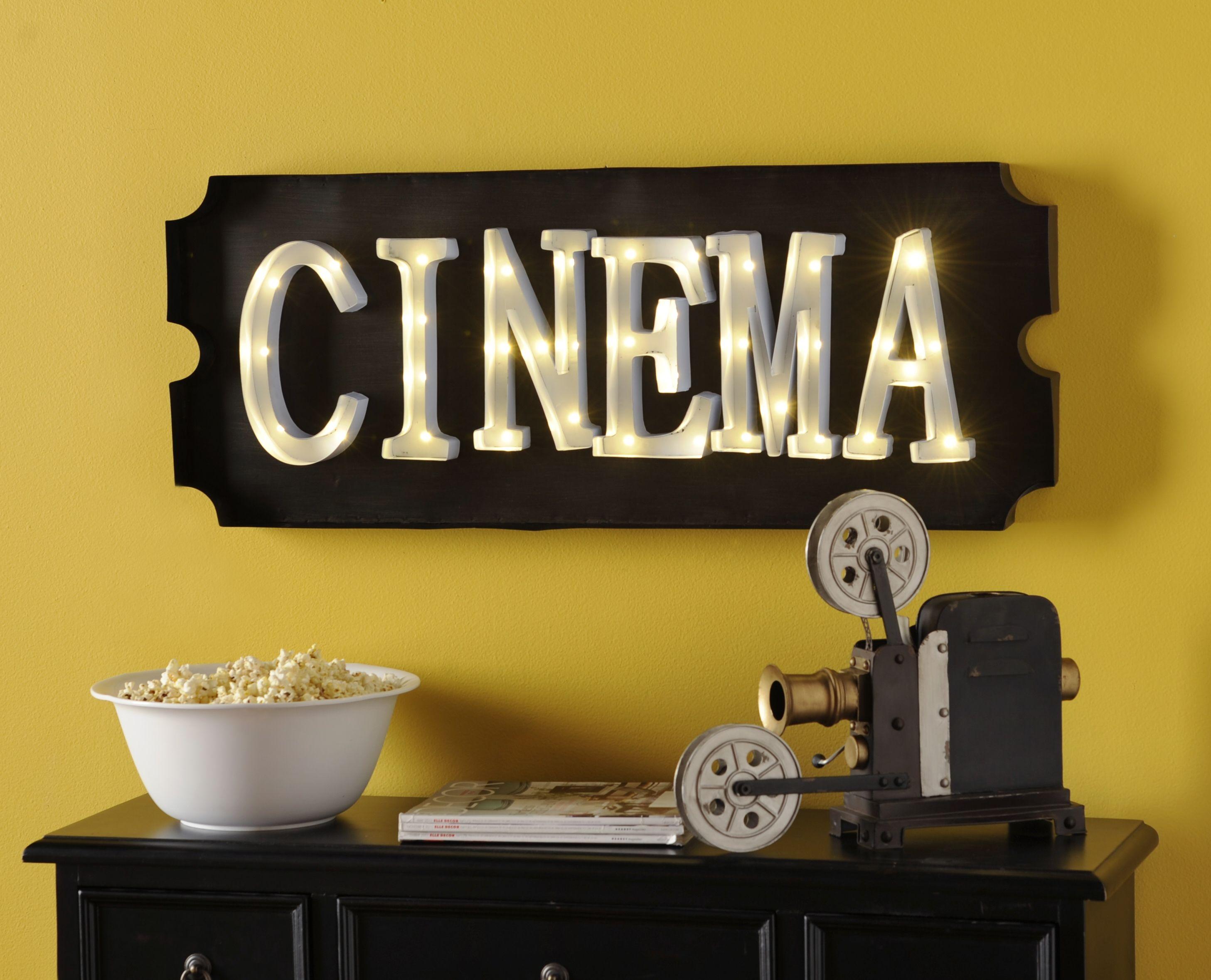 Cinema LED Plaque | Cinema, Bonus rooms and House