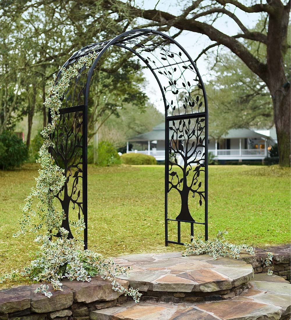 Tree Of Life Arbor Will Bring Out The Natural Beauty Within Your Yard Or Garden No Matter What You Believe The Tree O Garden Arbor Metal Arbor Arbors Trellis