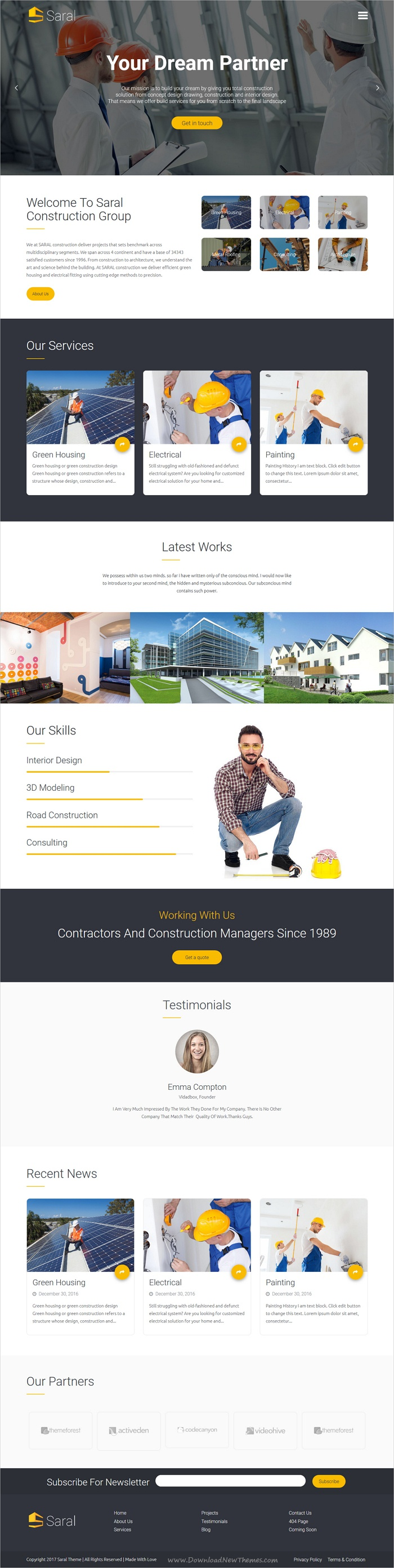 Saral is clean and modern design 5in1 responsive #WordPress theme ...