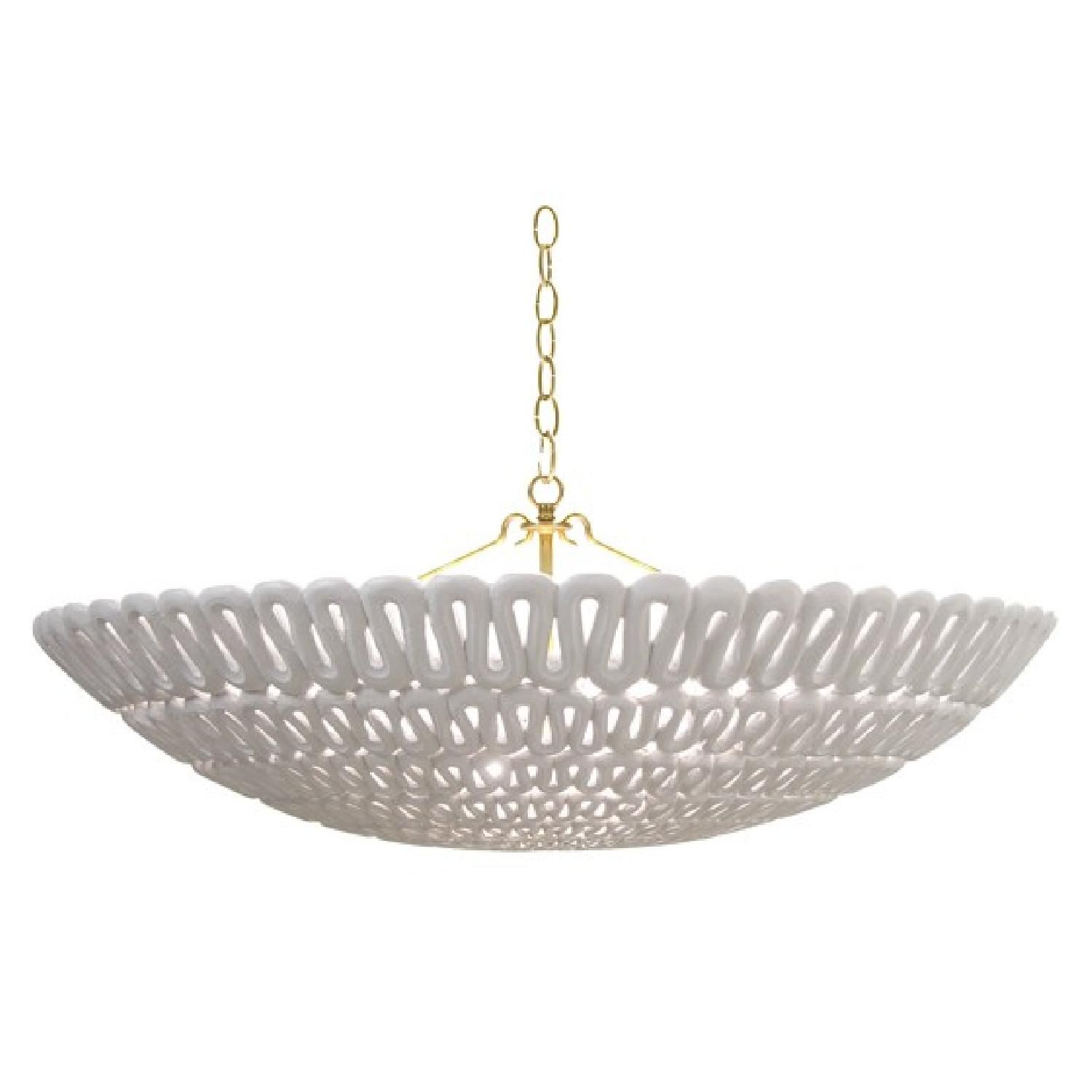 This is a Oly Studio Pipa Bowl Chandelier for $2 500 00 Brand new