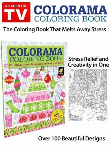 Colorama Christmas Coloring Book Zoom In
