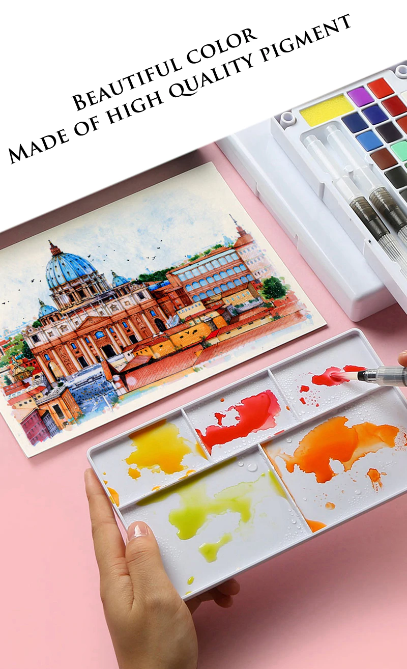 Couleur Peinture Pour Bureau Professionnel ensemble de peintures aquarelles de pigment solide de haute
