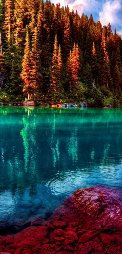 Garibaldi Lake In Garibaldi Provincial Park British