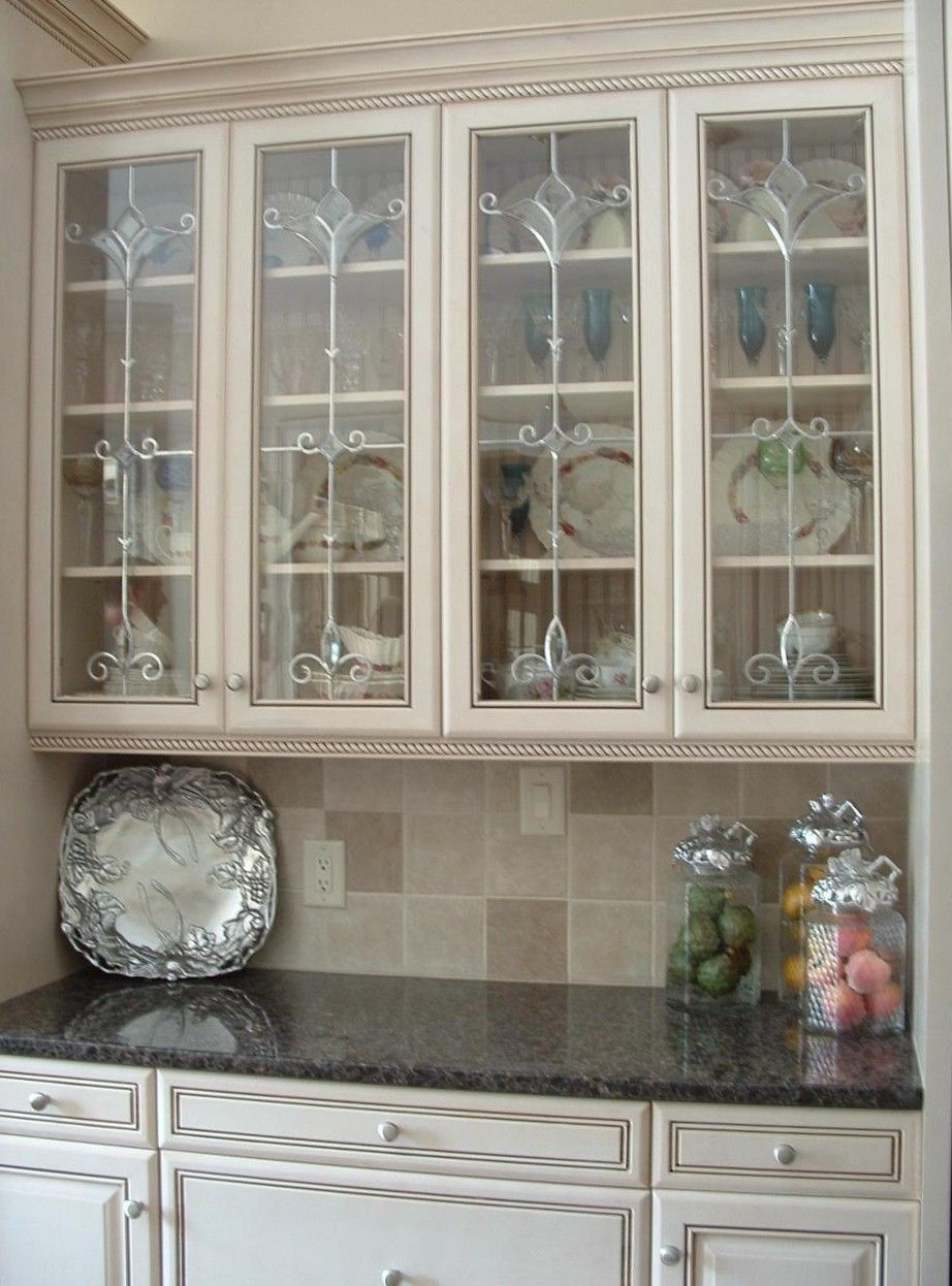 Kitchen Cabinet Glass Inserts Beveled And Frosted Glass Kitchen Regarding Measu Glass Fronted Kitchen Cabinets Glass Front Cabinets Glass Kitchen Cabinet Doors