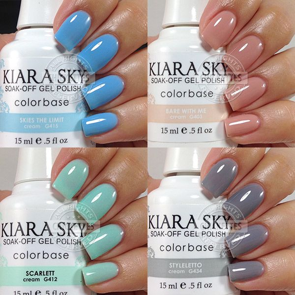 Kiara Sky Gel Polish Swatches by Chickettes.com | Nails | Pinterest