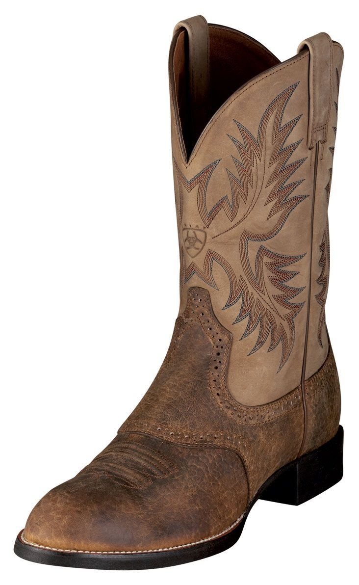 tough brown cowboy boots! none