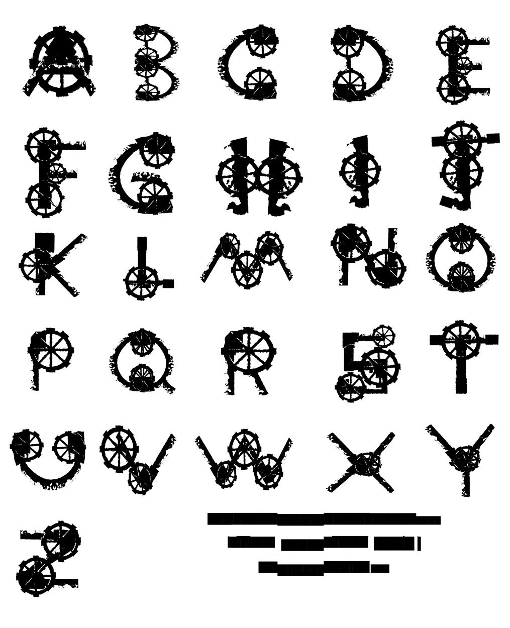 26 Steampunk Drawn Alphabet,Pen drawn font,Colorful letters,Geometric Letters,Hand drawn Alphabet,Digital Font,PNG Alphabet,painted font