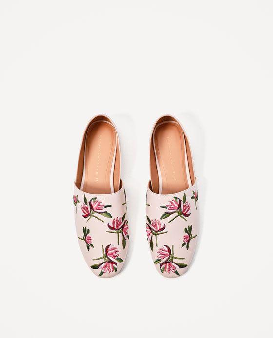 De Women's Imagen Flores Plano Zapato Shoes 4 Pinterest Zara TTxqY5S1