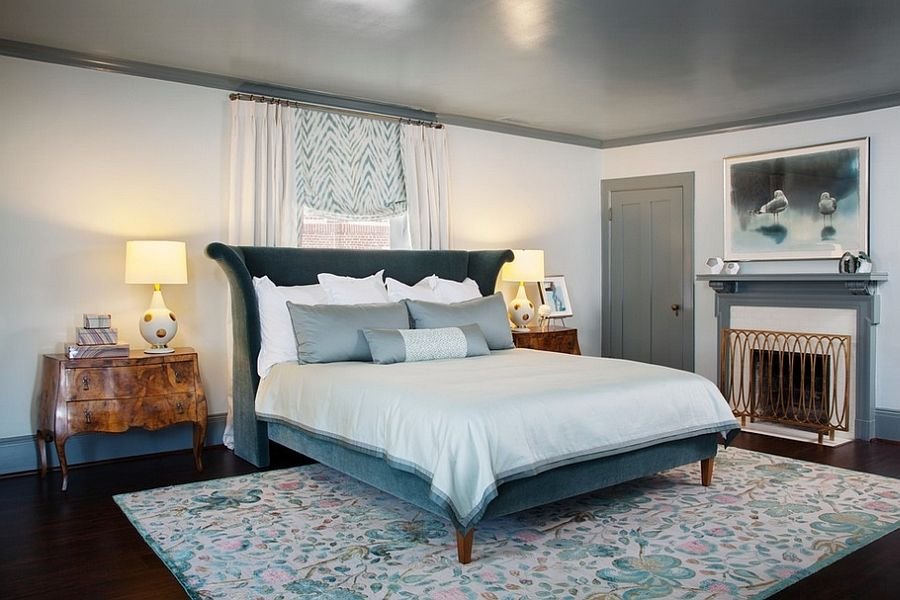 Stylish Bed And French Inspired Motifs Give The Room A Distinct Pleasing Trendy Bedroom Designs Inspiration Design