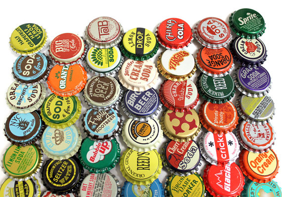 Our vintage and vintage inspired soda bottle caps are up to 50 years old and still have their liners in them- some even the old cork liners!