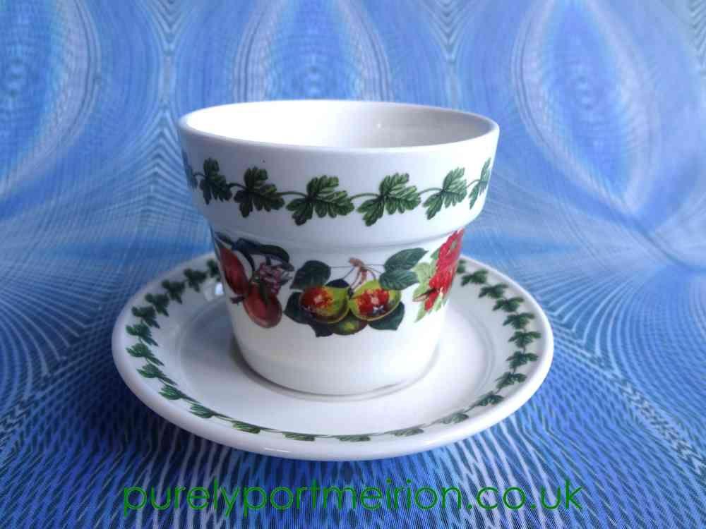 Portmeirion Pomona Vintage Herb Pot And Saucer Set