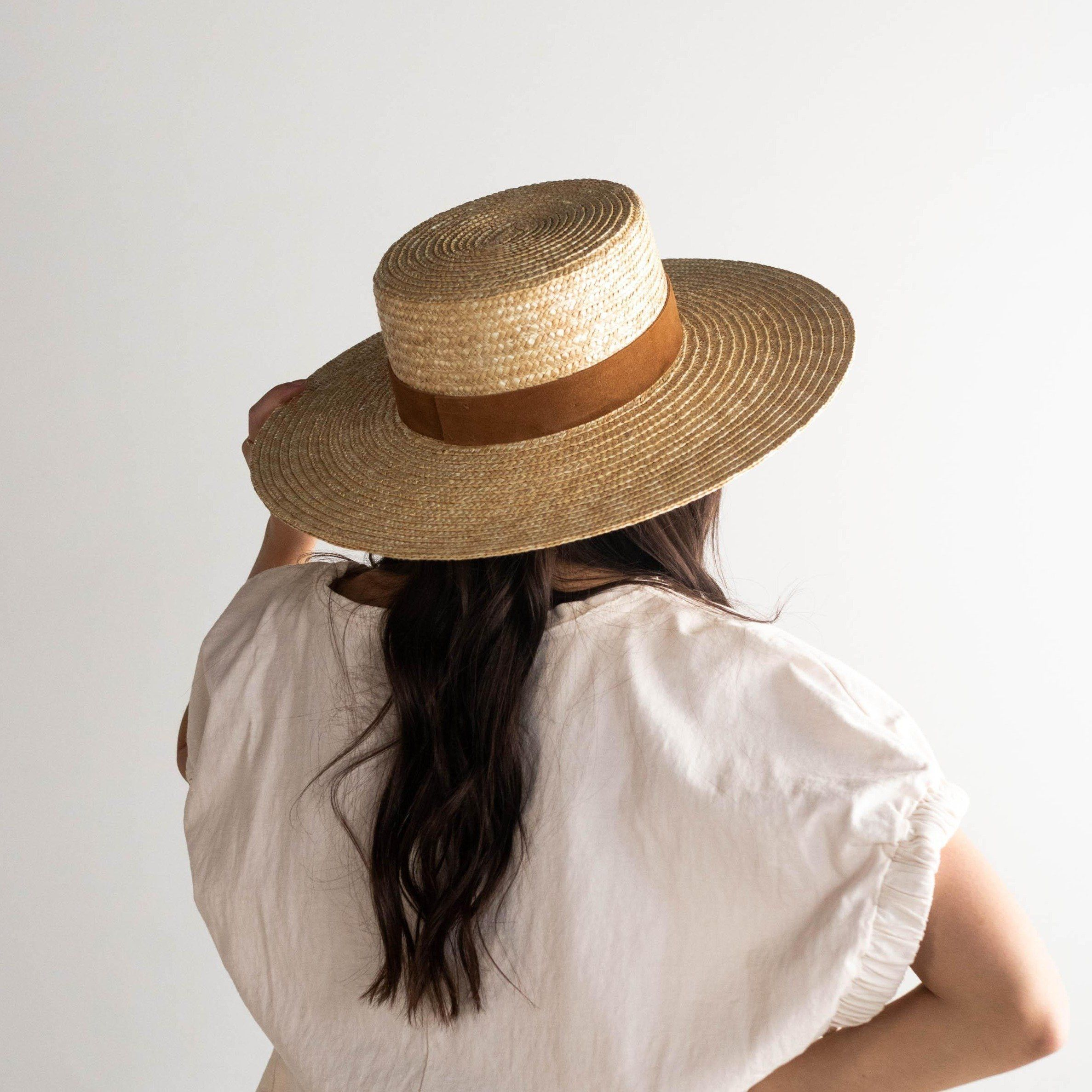 Capri Medium Natural Hat Fashion Wide Brim Sun Hat Wide Brimmed