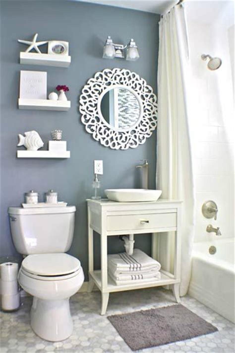 45 stunning bathroom decor ideas for small bathrooms 2019 on stunning small bathroom design ideas id=71572
